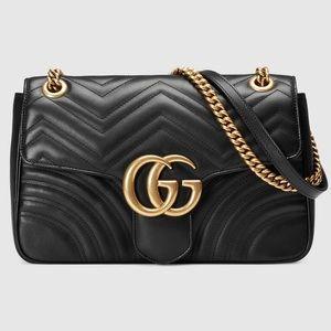 🔥Authentic Gucci Marmont GG Medium Matelassé Bag